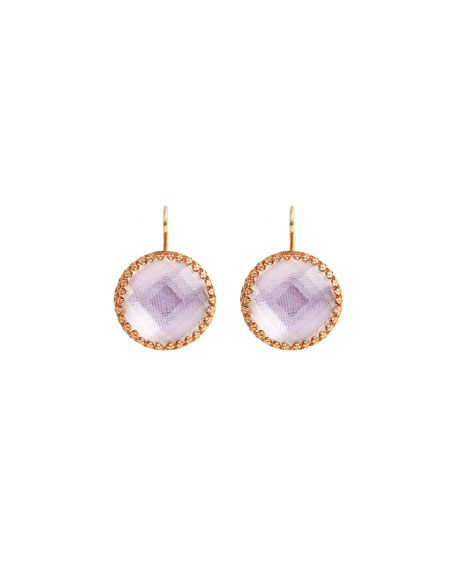 Olivia 18K Rose Gold-Washed Button Earrings, Ballet Pink