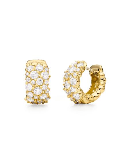 paul morelli 18k gold large confetti huggie earrings