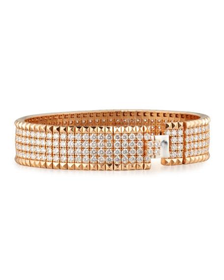 Roberto Coin ROBERTO COIN ROCK & DIAMONDS 18K Rose Gold Bangle