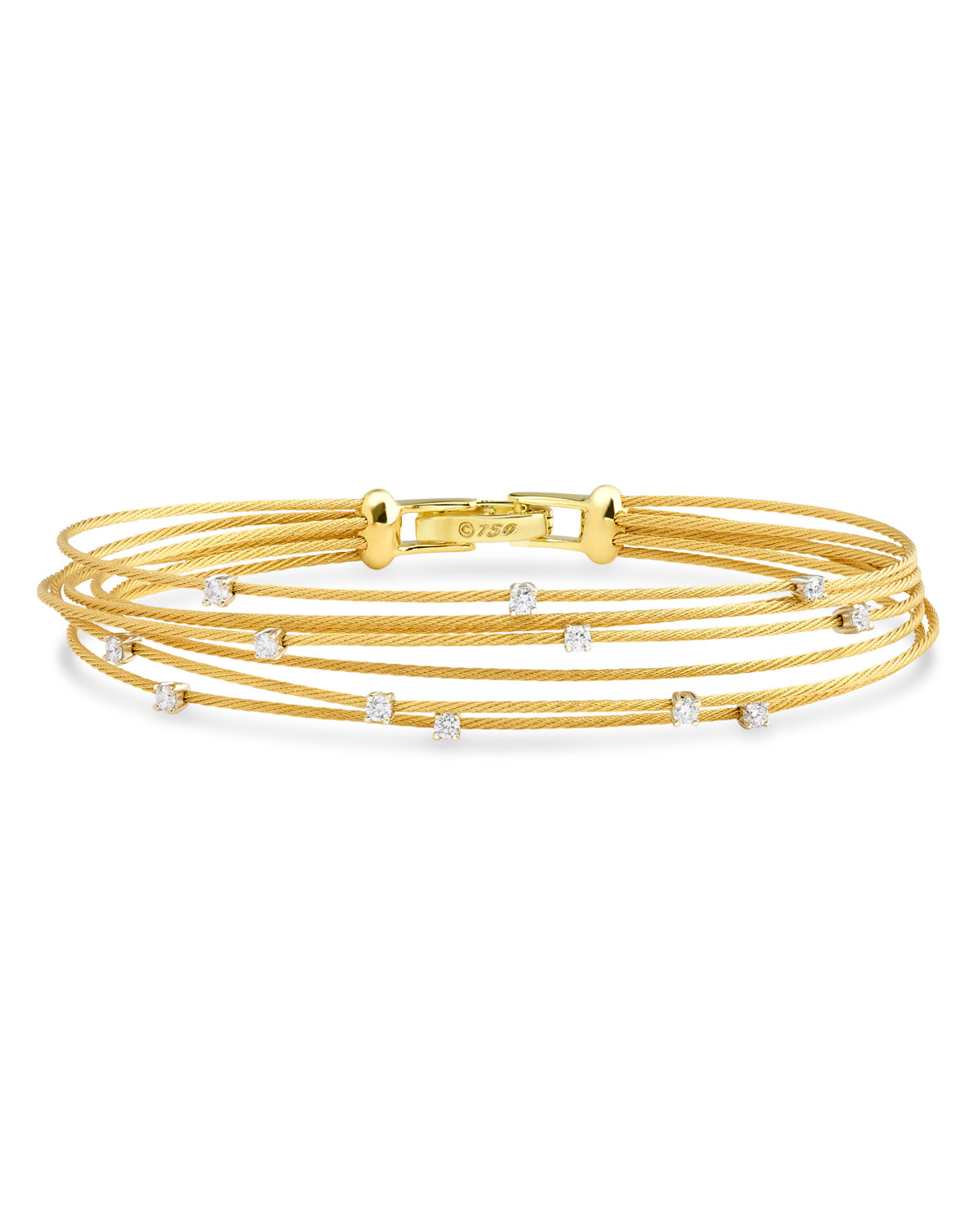 Paul Morelli Seven-Strand Cable Wire Bracelet with Diamonds