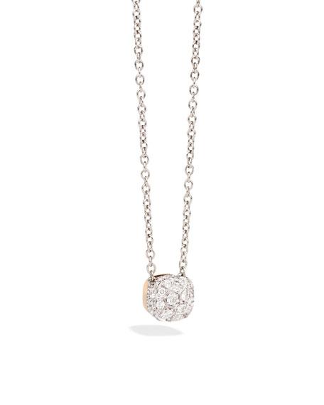 Pomellato Nudo 18K White & Rose Gold Diamond Pendant Necklace