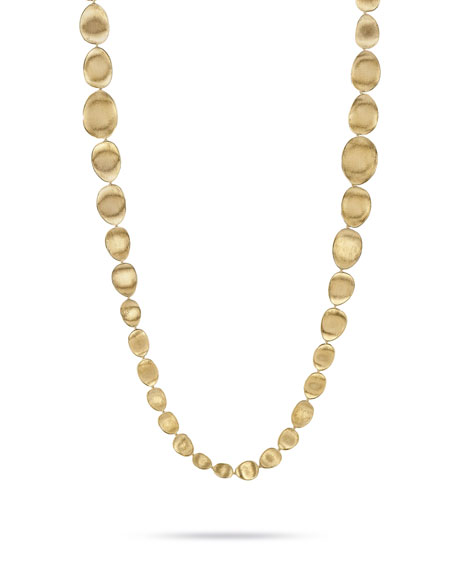 Lunaria 18K Gold Bead Necklace, 39.3""