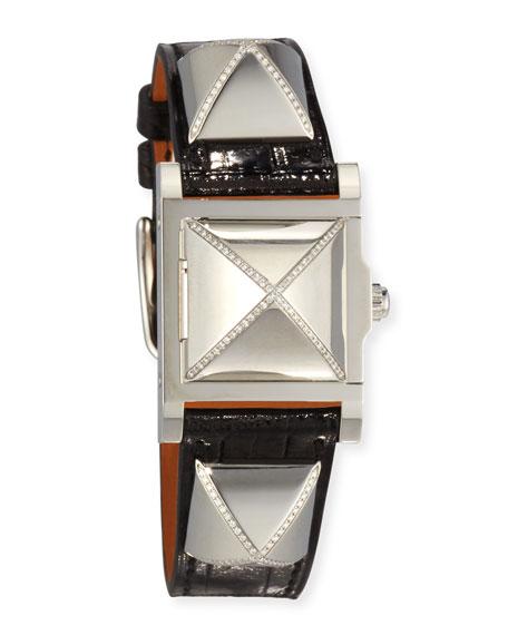 Hermès Medor Watch, 23 x 23 mm