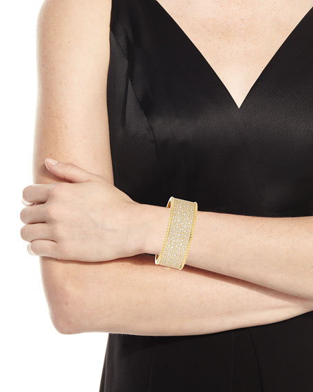 ROBERTO COIN ROCK & DIAMONDS Medium 18K Yellow Gold Bangle Bracelet