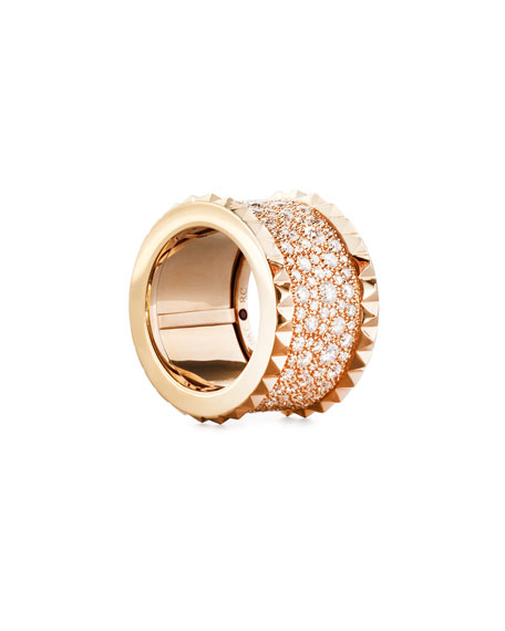 Image 2 of 2: Roberto Coin ROBERTO COIN ROCK & DIAMONDS 18K Rose Gold Ring, Size 6.5