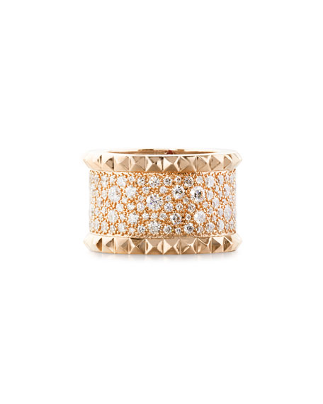 Image 1 of 2: Roberto Coin ROBERTO COIN ROCK & DIAMONDS 18K Rose Gold Ring, Size 6.5
