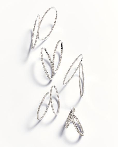 18K White Gold & Diamond Infinity Hoop Earrings, 1.5 tdcw