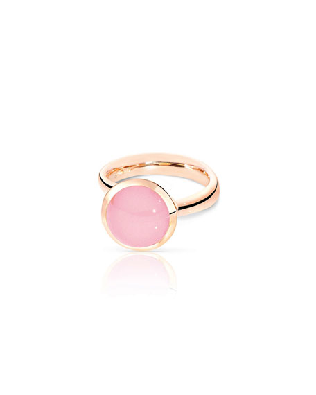 Tamara Comolli Large Bouton Pink Chalcedony Cabochon Ring,