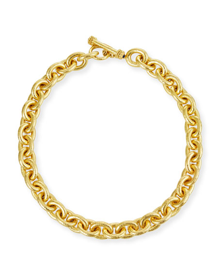 Image 1 of 3: Elizabeth Locke Heavy Oval Link Necklace