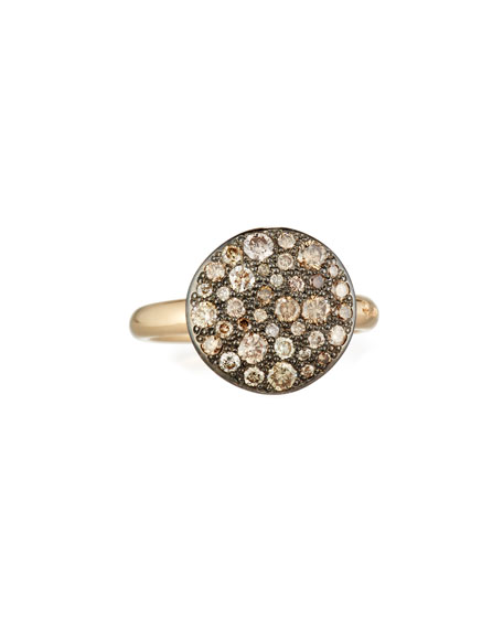 Pomellato Sabbia Rose Gold & Brown Diamond Ring,