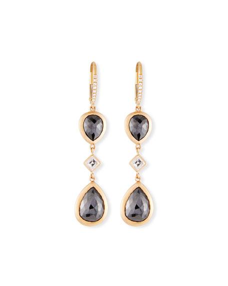 Rahaminov Diamonds 18k Kifani Pear-Dangle Earrings