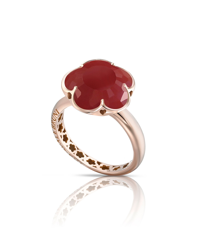 Pasquale Bruni Bon Ton White Quartz & Diamond Ring in 18K Rose Gold yByOEzE