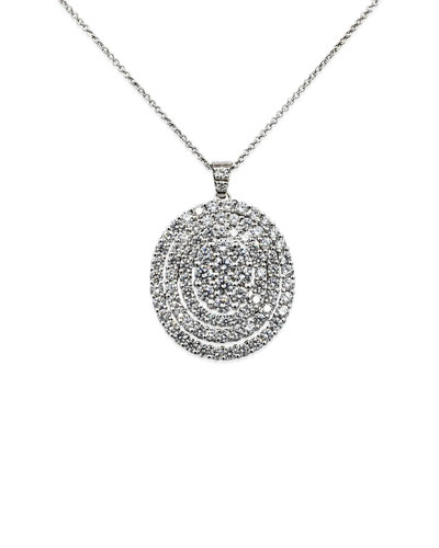 Iconic Must Have 18k White Gold Diamond Pendant