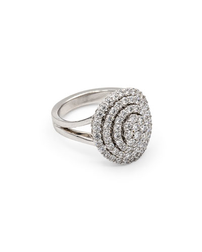 Iconic Must Have 18k White Gold Diamond Ring  Size 7