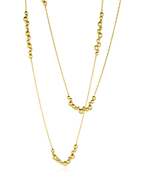 Mini Atomo Necklace in 18K Gold, 42""