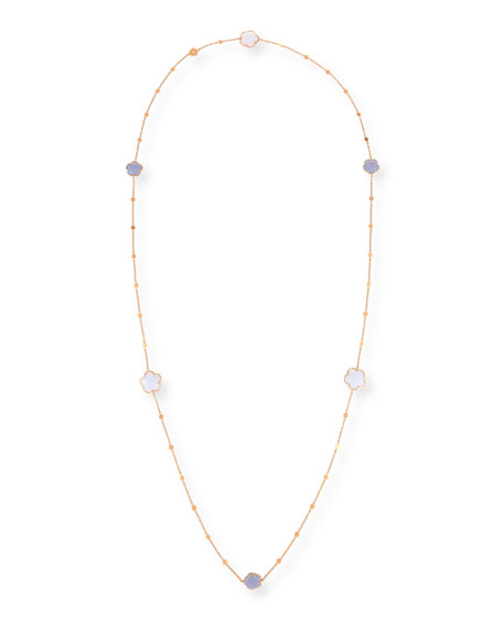 Bon Ton Chalcedony Station Necklace