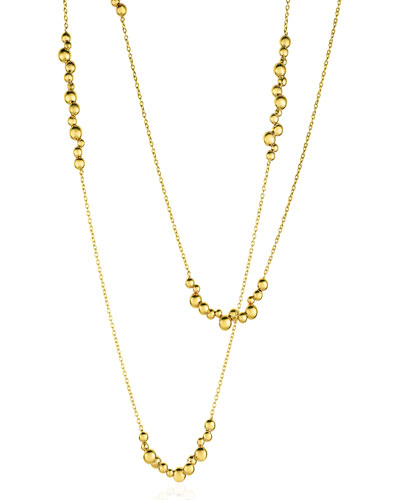 Atomo 18k Yellow Gold Long Cluster Necklace
