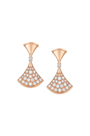 BVLGARI Divas' Dream Diamond Drop Earrings in 18k Rose Gold $7200.00