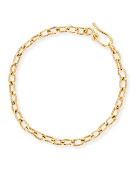 Jean Mahie 22k Gold Cadene 12 Chain Bracelet
