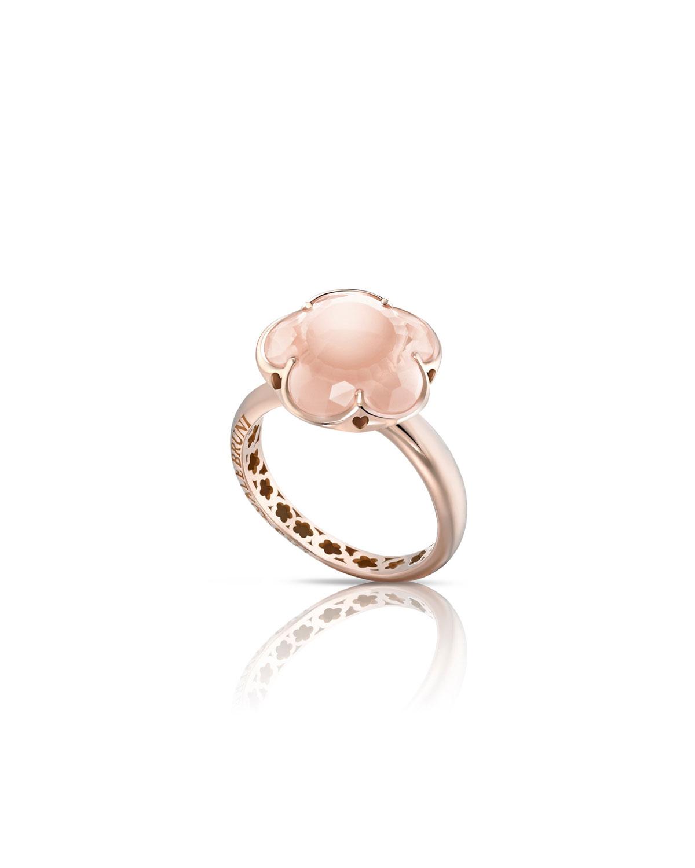 Pasquale bruni bon ton pink quartz flower ring in 18k rose gold bon ton pink quartz flower ring in 18k rose gold size 6 mightylinksfo