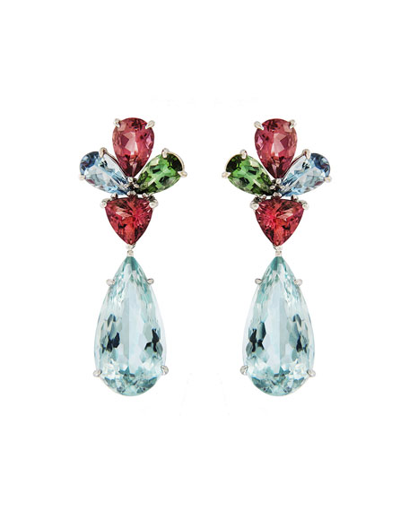 Valentin Magro Aquamarine And Tourmaline Earrings
