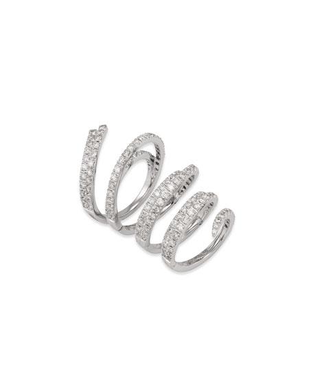 Staurino 18k White Gold Diamond Magic Snake Ring