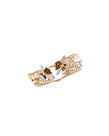 Image 1 of 3: 18k Rose Gold Moresca Bumble Bee Hinged Ring