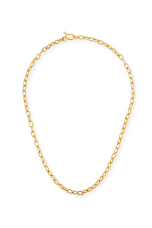 Jean Mahie Cadene 22k Link Necklace