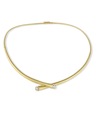 18k Gold Collar Necklace with Diamonds