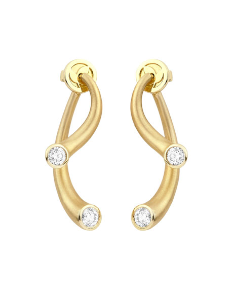 Carelle 18k Two-Piece Earrings with Diamonds