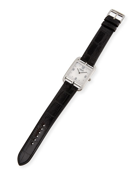 Cape Cod GM Watch with Diamonds & Black Alligator Strap