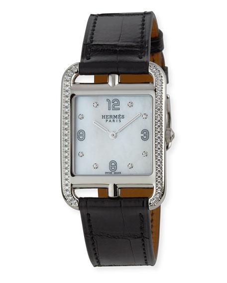 Cape Cod GM Watch with Diamonds & Black Alligator Strap