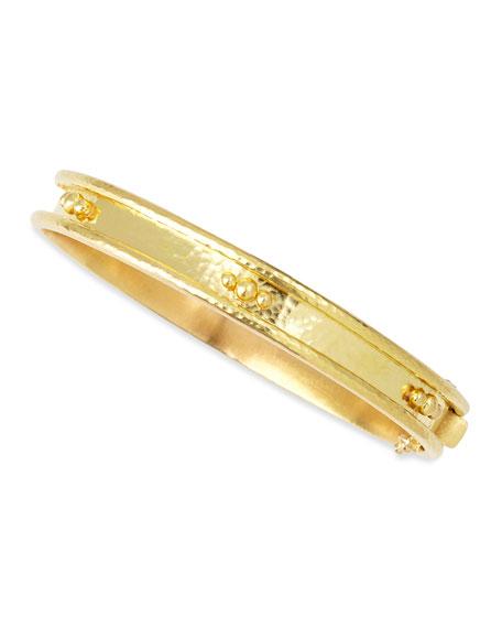 Elizabeth Locke 19k Gold Flat Thin Bangle with