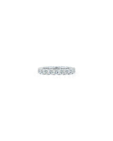 NM Diamond Collection Diamond Eternity Band Ring in Platinum, 2.5 tdcw, Size 6.5