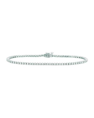 Diamond Tennis Bracelet in 18K White Gold, 2.43 tdcw