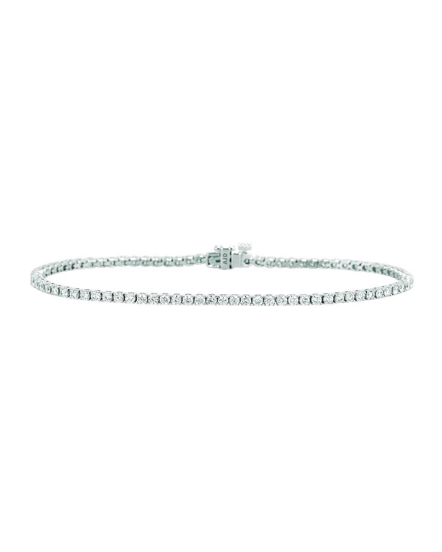 Bessa 18K White Gold Diamond Line Bracelet OCnjuyiSK3