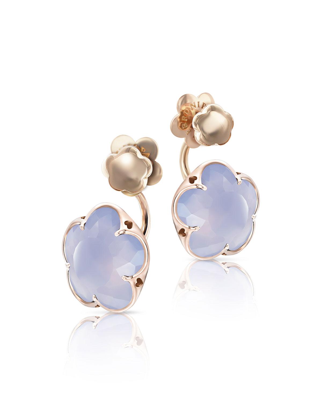 Pasquale Bruni 18k Bon Ton Jolie Black Onyx & Diamond Floral Earrings gKU5Kdm