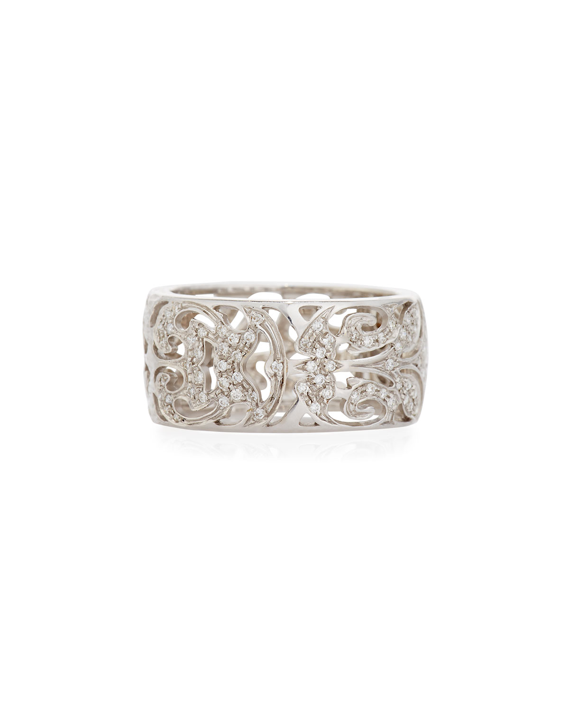 Marco Dal Maso The Other Half 18K Rose Gold Pavé Diamond Ring, Size 10