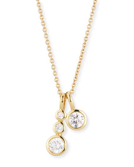 Memoire Forevermark 18K Yellow Gold Four-Diamond Pendant Necklace