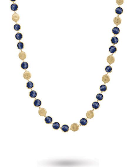 Marco Bicego Jaipur 18K Lapis Station Necklace, 30
