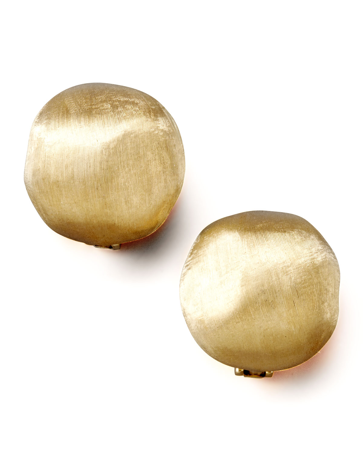 Marco Bicego Africa Textured Gold Stud Earrings, Large