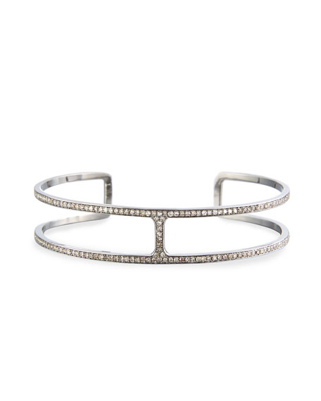 Siena Lasker H-Shaped Diamond Cuff Bracelet