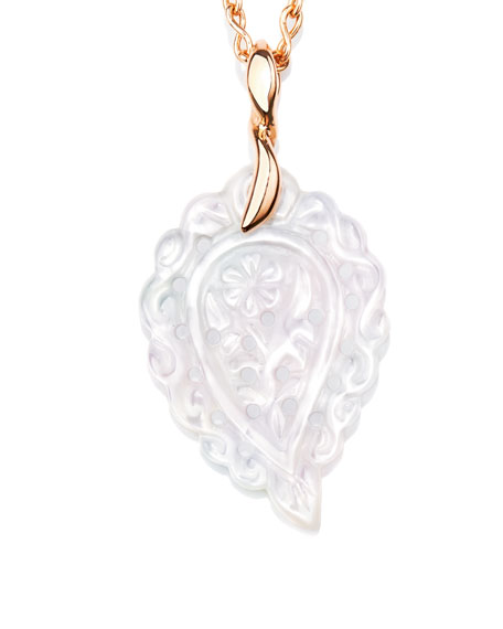 Tamara comolli signature india leaf pendant necklace with diamonds tamara comolli signature india leaf pendant necklace with diamonds in 18k rose gold aloadofball Image collections