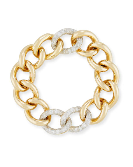 Image 1 of 2: Tango Curb Link Bracelet with Diamonds