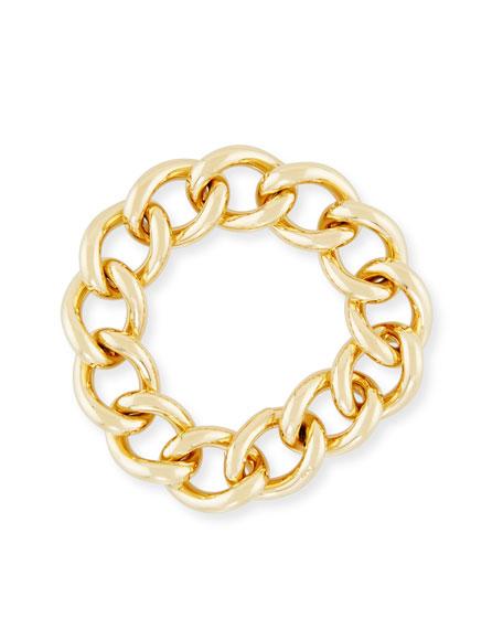 Pomellato Tango Curb Link Bracelet in 18K Yellow Gold