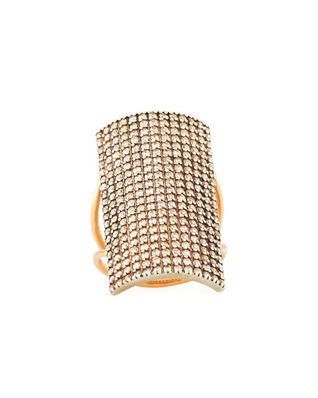 Kismet by Milka Pave Diamond Rectangle Ring in