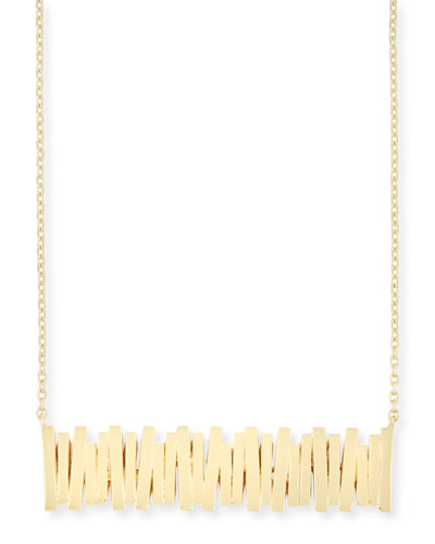 Bar Pendant Necklace in 18K Yellow Gold