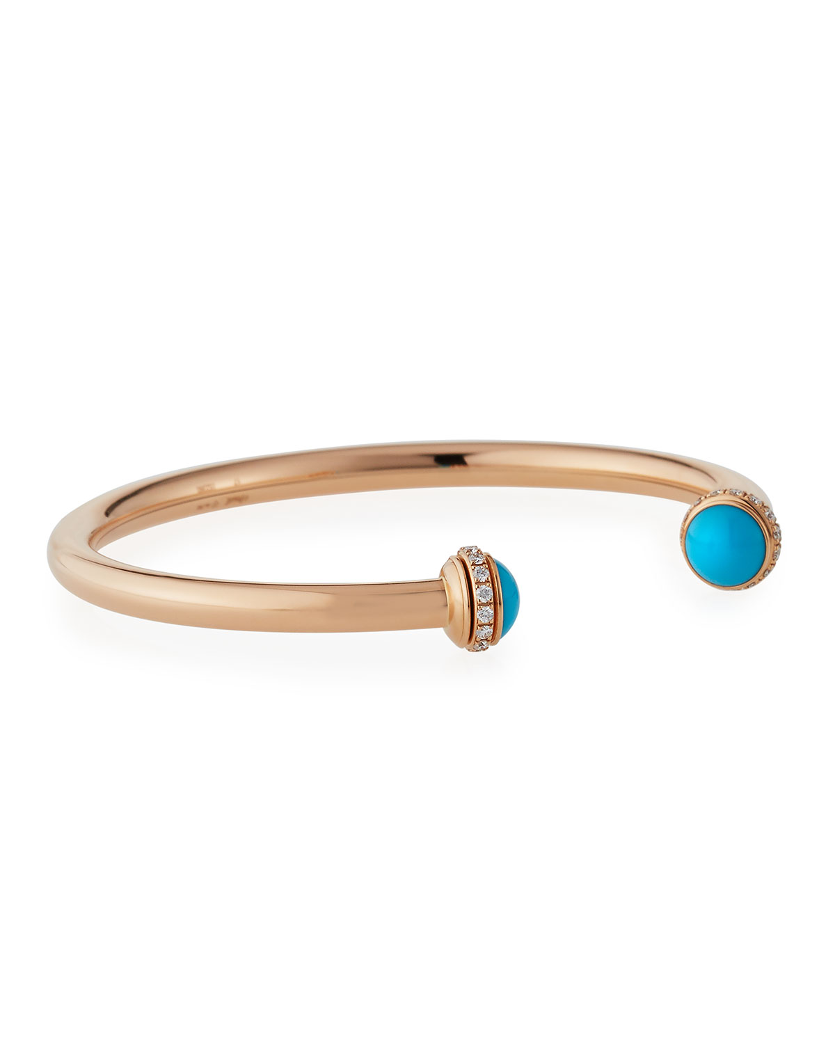 Piaget Possession 18K Red Gold & Turquoise Cabochon Bracelet with Diamonds, Size L