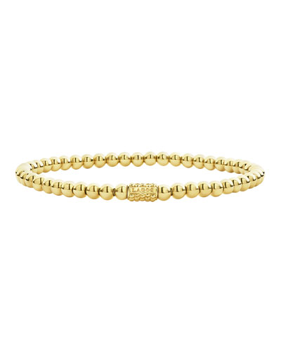 4mm 18K Gold Caviar Ball Bracelet