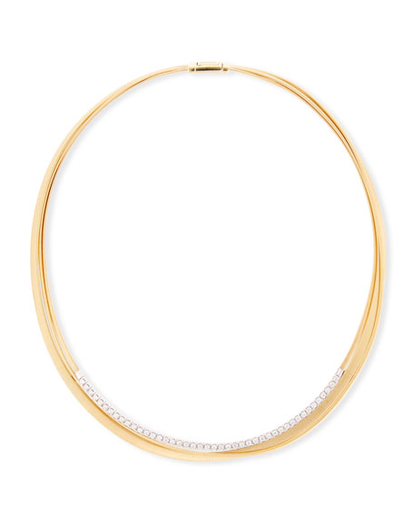 Masai 18k Three-Strand Diamond Necklace